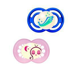 6+ 1 Perfect Silikonseta Night / Succhietto Mam Silicone By Bamed Baby Italia S.r.l.