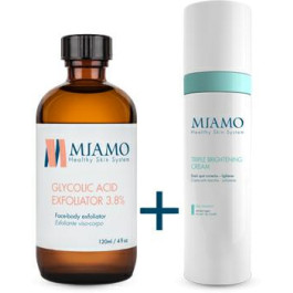 MIAMO KIT GLYCOLIC ACID EXFOLIATOR 3,8% 120 ML + TRIPLE BRIGHTENING CREAM 50 ML