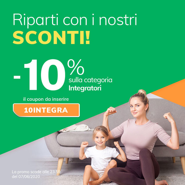 -10% sulla categoria integratori